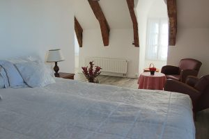 King-size bed and living-room guest-room France Auvergne