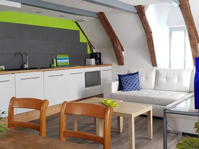 Kitchen and living-room, appartement in Besse Auvergne